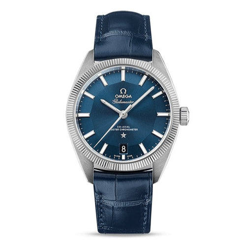 Omega Constellation Globemaster Co-Axial Master Chronometer 39mm with Blue Leather Strap