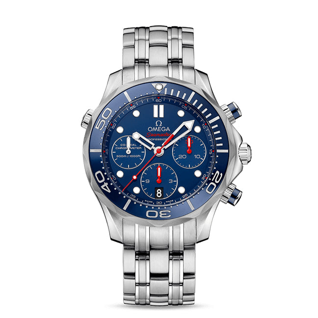 Omega Seamaster Diver 300M Co-Axial Chronograph 44mm with Blue Dial