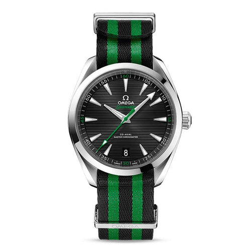 "Omega Seamaster Aqua Terra 150M Omega Master Co-Axial Chronometer 41mm ""Golf Edition"" with Green NATO Strap"