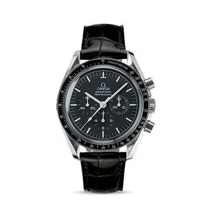 OMEGA Speedmaster Moonwatch Professional Chronograph 42mm with Black Leather Strap