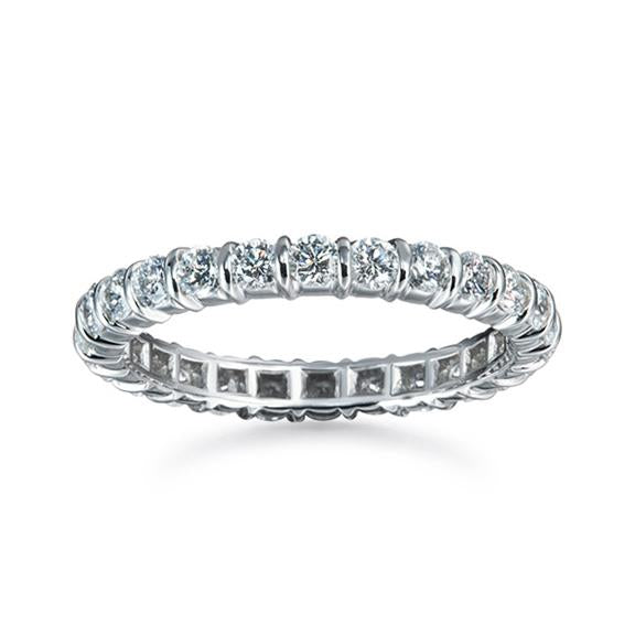 Suwa Platinum Loop Set Diamond Band
