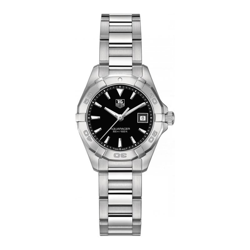 TAG Heuer Ladies' Aquaracer 27mm Quartz Black Dial Watch