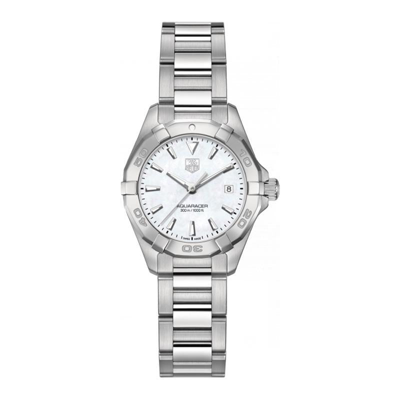 TAG Heuer Ladies' Aquaracer 27mm Quartz White Mother-of-Pearl Dial Watch