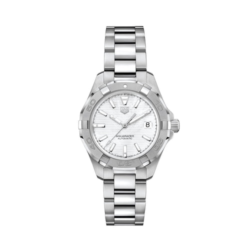 TAG Heuer Ladies' Aquaracer Calibre 9 Automatic 32mm White Mother-of-Pearl Dial Watch