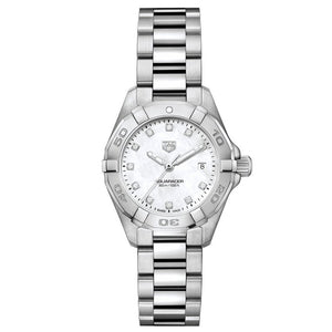 TAG Heuer Ladies' Aquaracer Quartz Mother-of-Pearl Dial Watch with Diamond Indexes