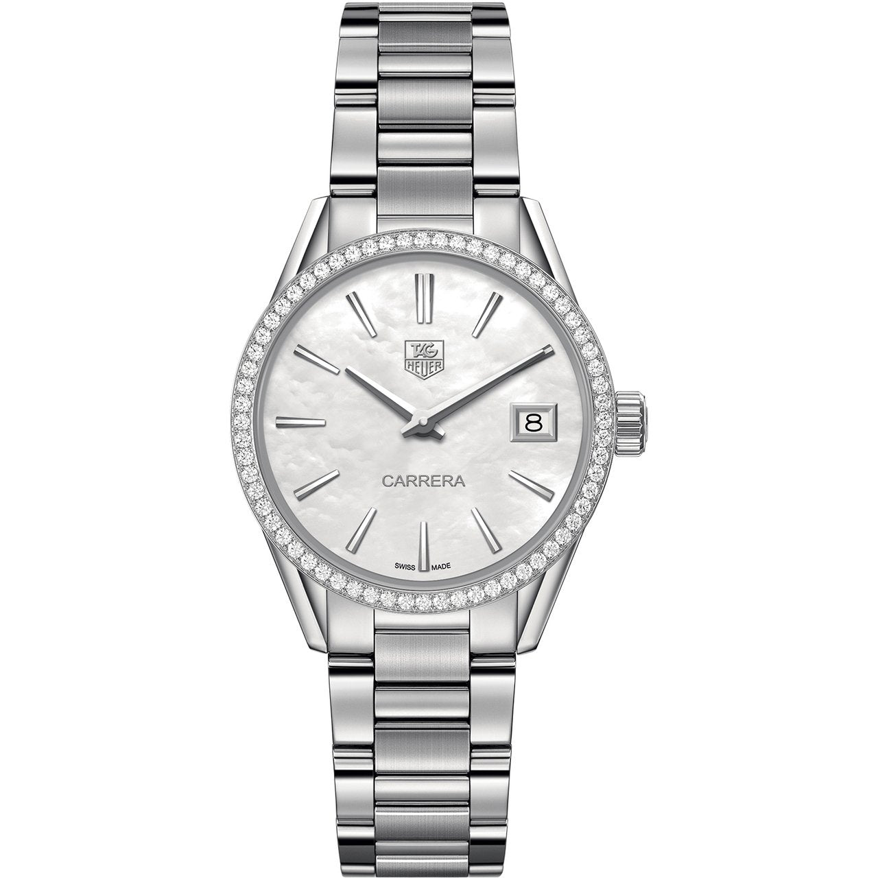 TAG Heuer Ladies' Carrera Diamond Bezel and Mother-of-Pearl Dial Watch
