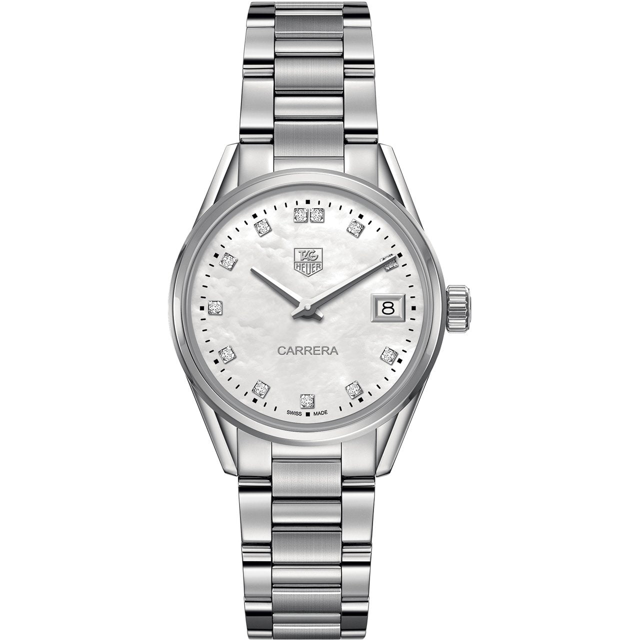 TAG Heuer Ladies' Carrera Quartz Movement Mother-of-Pearl and Diamond Dial Watch