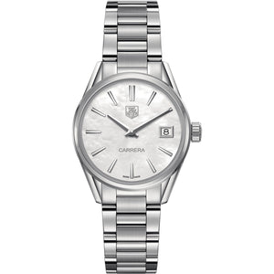 TAG Heuer Ladies' Carrera Quartz Movement Mother-of-Pearl Dial Watch