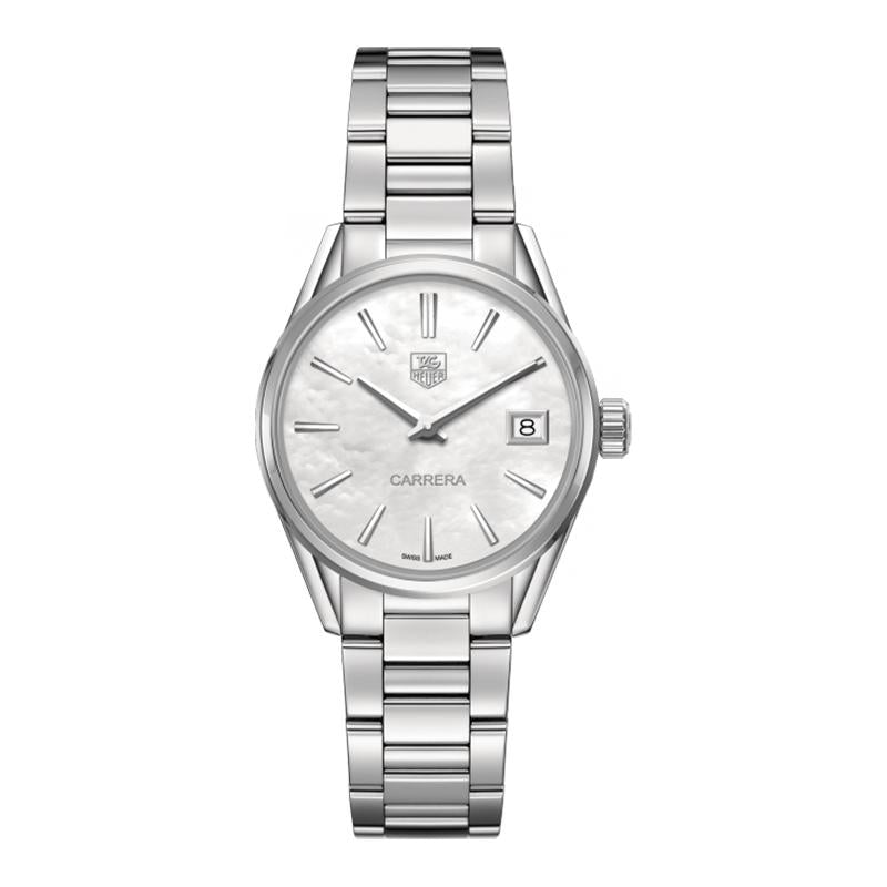 TAG Heuer Ladies' Carrera White Mother-of-Pearl Dial Quartz Watch