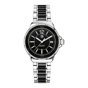 TAG Heuer Ladies' Formula 1 Black Ceramic and Black Dial Watch with Diamonds