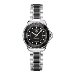 TAG Heuer Ladies' Formula 1 Black Dial and Bezel Watch with Diamonds