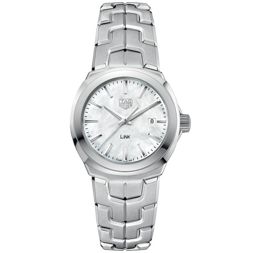 TAG Heuer Link Ladies' Quartz Movement White Mother-of-Pearl Dial Watch