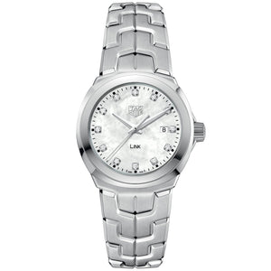 TAG Heuer Ladies' Link White Mother-of-Pearl Diamond Dial Watch