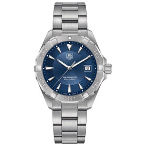 "TAG Heuer Men's Aquaracer 40.5mm Quartz Movement Blue ""Sunray"" Dial Watch"
