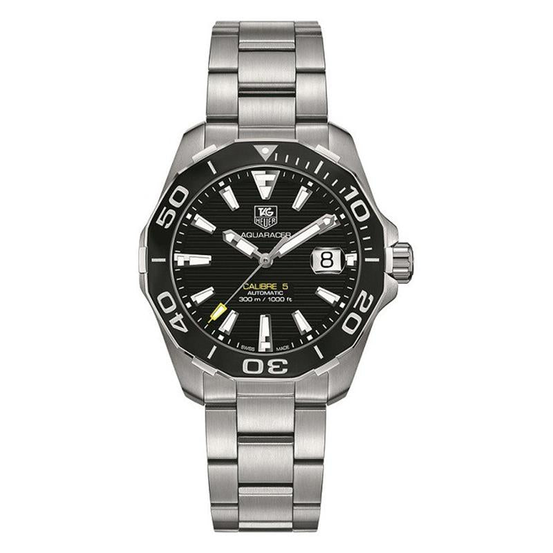 TAG Heuer Men's Aquaracer 41mm Automatic Calibre 5 Black Horizontal Pattern Dial Watch