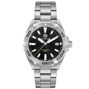 TAG Heuer Men's Aquaracer 41mm Quartz Movement Black Dial Watch