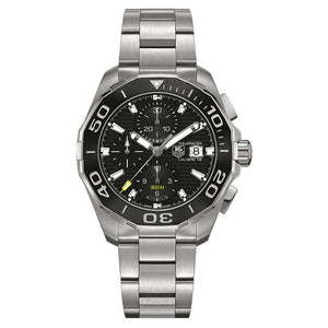 TAG Heuer Men's Aquaracer 43mm Automatic Calibre 16 Black Horizontal Pattern Dial Watch