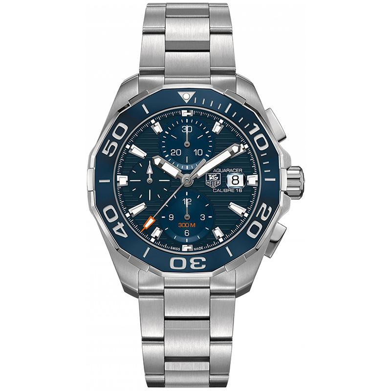 TAG Heuer Men's Aquaracer 43mm Automatic Calibre 16 Navy Horizontal Pattern Dial Watch
