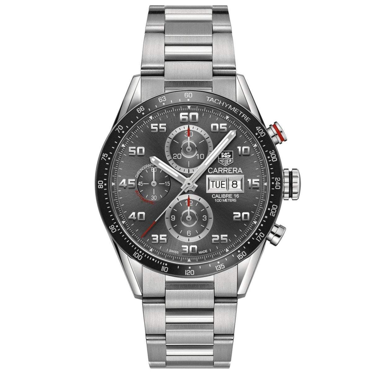 TAG Heuer Men's Carrera Automatic Calibre 16 Anthracite Dial Watch