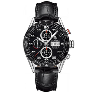 TAG Heuer Men's Carrera Automatic Calibre 16 Chronograph Leather Strap Watch