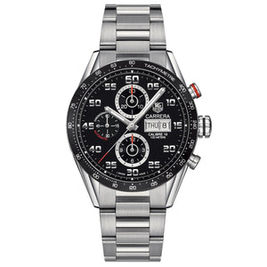 TAG Heuer Men's Carrera Automatic Calibre 16 Day-Date Chronograph Black Dial Watch