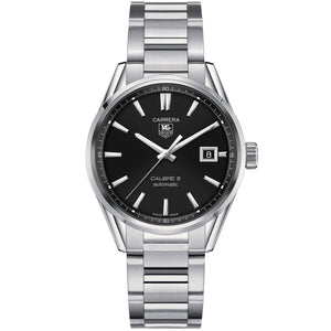 TAG Heuer Men's Carrera Automatic Calibre 5 Watch with a Black Dial