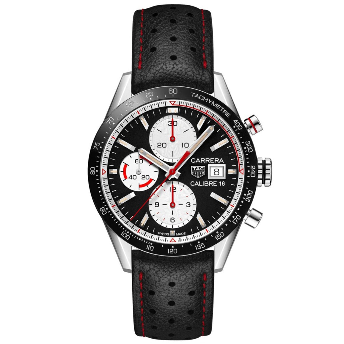 TAG Heuer Carrera Men's Automatic Chronograph Calibre 16 Black Dial Watch