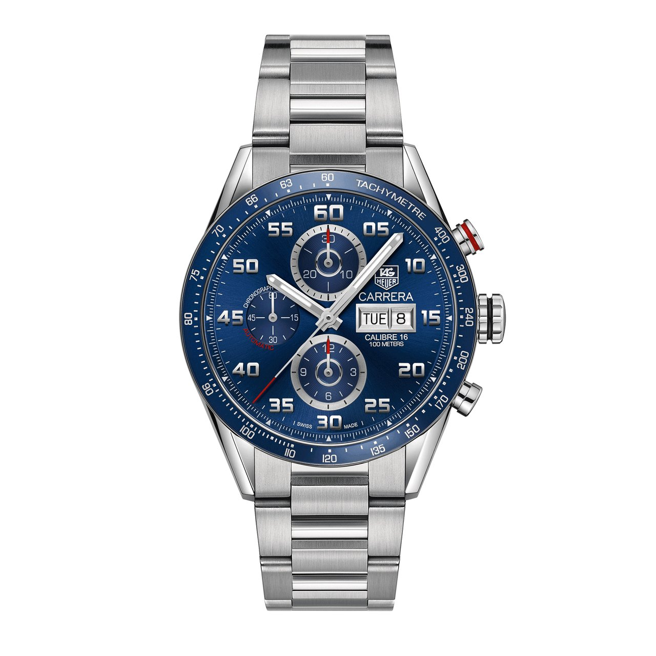 TAG Heuer Men's Carrera Automatic Chronograph Calibre 16 Blue Dial Watch