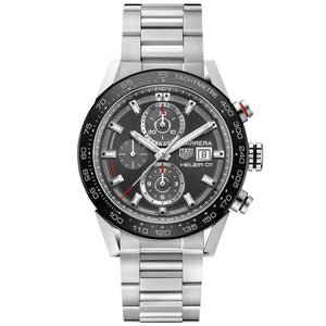 TAG Heuer Men's Carrera Automatic Chronograph Movement Grey Dial Watch
