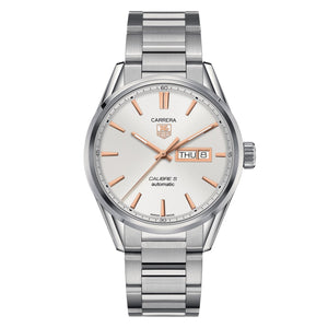 TAG Heuer Men's Carrera Automatic Day-Date Silver Dial Watch