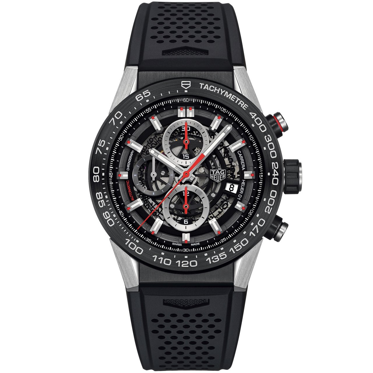 TAG Heuer Men's Carrera Calibre Heuer 01 Skeleton Dial Automatic Watch