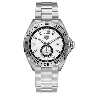 TAG Heuer Men's Formula 1 Automatic Chronograph Movement White Dial Watch