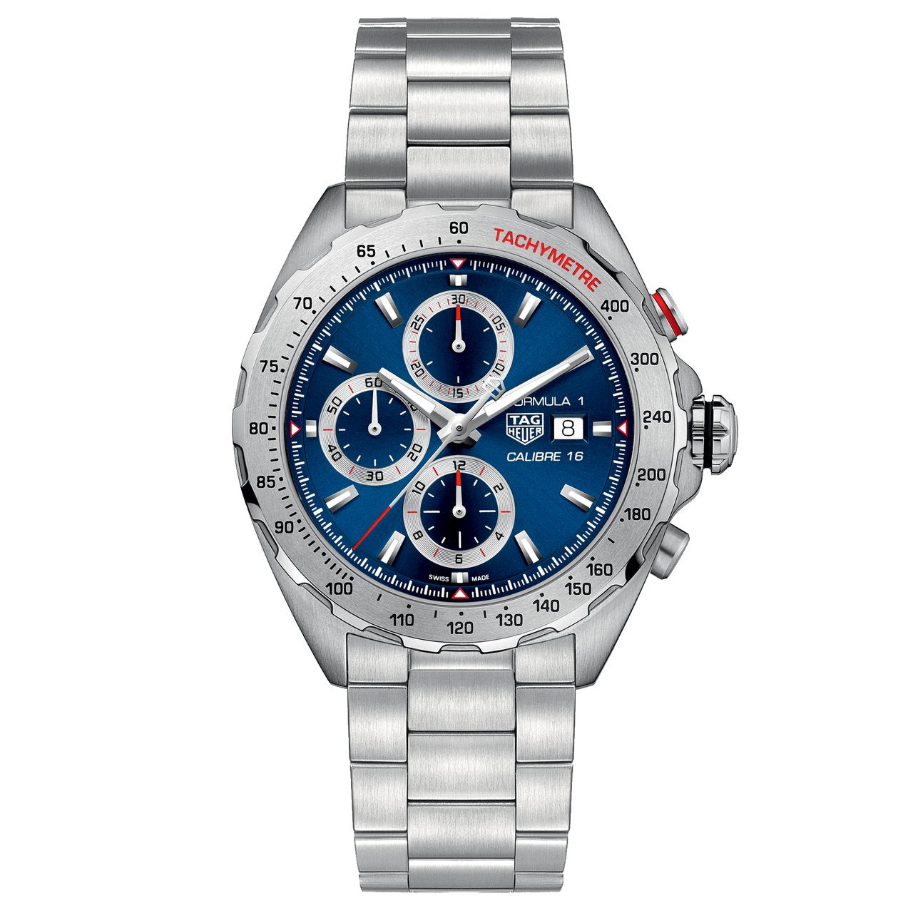 TAG Heuer Men's Formula 1 Chronograph Movement Blue Sunray Dial Watch