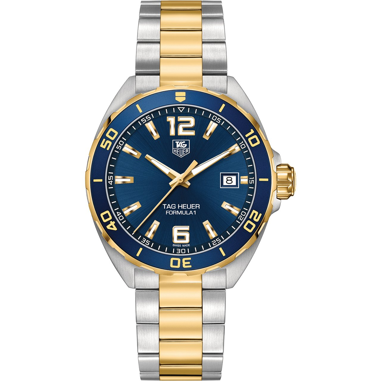 TAG Heuer Men's Formula 1 Quartz Movement Stainless Steel and Gold-Plated Blue Dial Watch