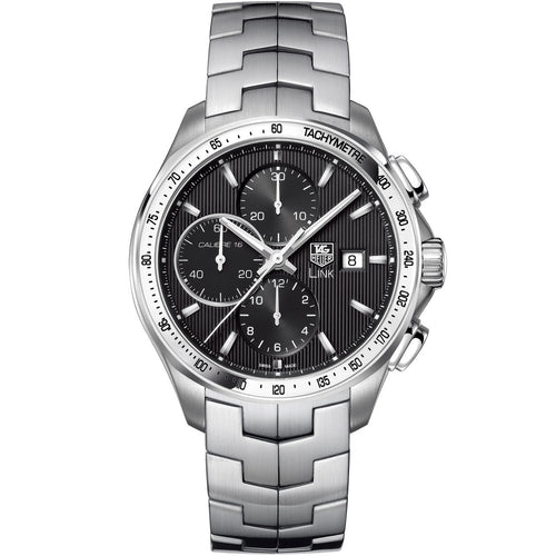 TAG Heuer Men's Link Automatic Calibre 16 Chronograph Black Dial Watch