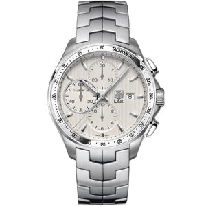 TAG Heuer Men's Link Automatic Calibre 16 Chronograph Silver Dial Watch