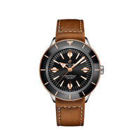 Breitling Superocean Heritage '57 Steel & 18K Red Gold with Black Dial and Leather Strap - Available for Pre-Order