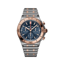 Breitling Chronomat B01 Chronograph 42 Steel & 18K Red Gold with Blue Dial