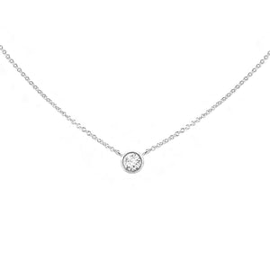 Forevermark Tribute™ Collection 18K White Gold Diamond Bezel Set Pendant