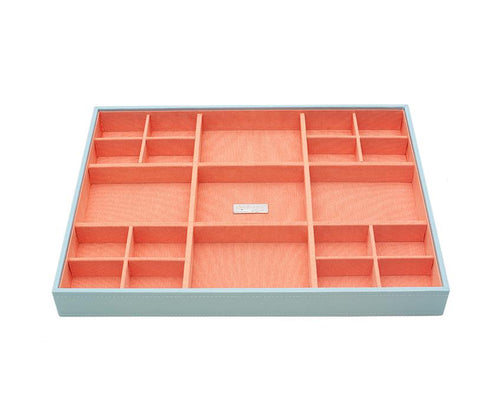 Wolf 1834 Large Standard Aqua and Orange Stackable Tray