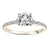 Load image into Gallery viewer, Fink's Exclusive Round Diamond and Diamond Shank Engagement Ring