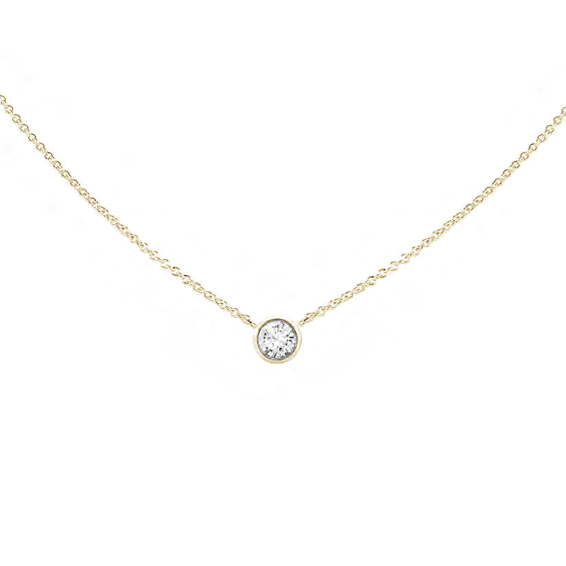 Forevermark Tribute™ Collection 18K Yellow Gold Round Bezel Set Diamond Pendant