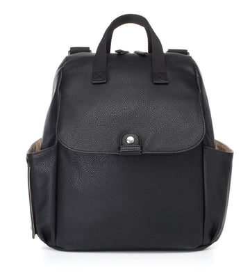 Robyn Convertible Faux Leather Backpack (Black)