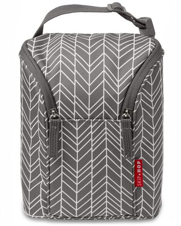 Double Bottle Bag (Grey Feather)