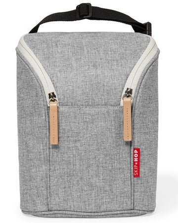 Double Bottle Bag (Grey Melange)
