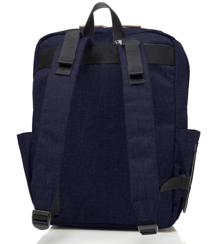 George Backpack (Black/Navy Melange)