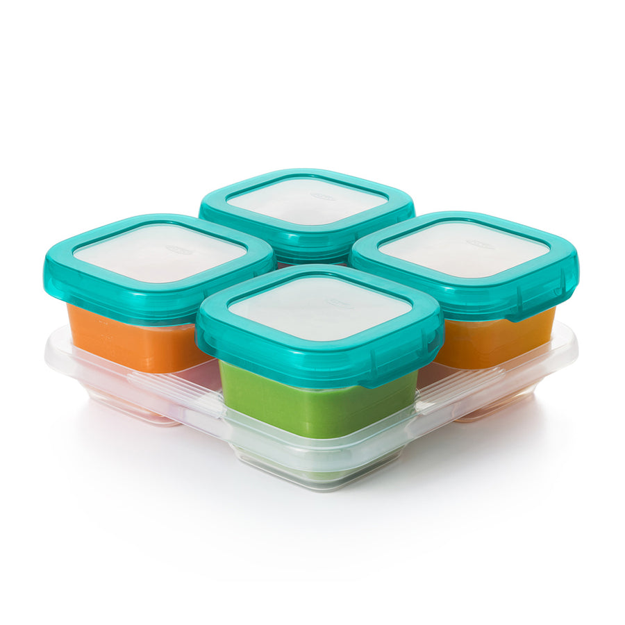 Baby Blocks™ Freezer Storage Container Set - 6oz (Teal)