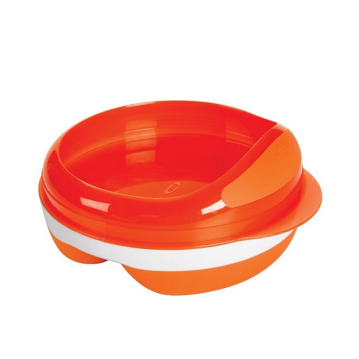 Divided Feeding Dish (Orange)