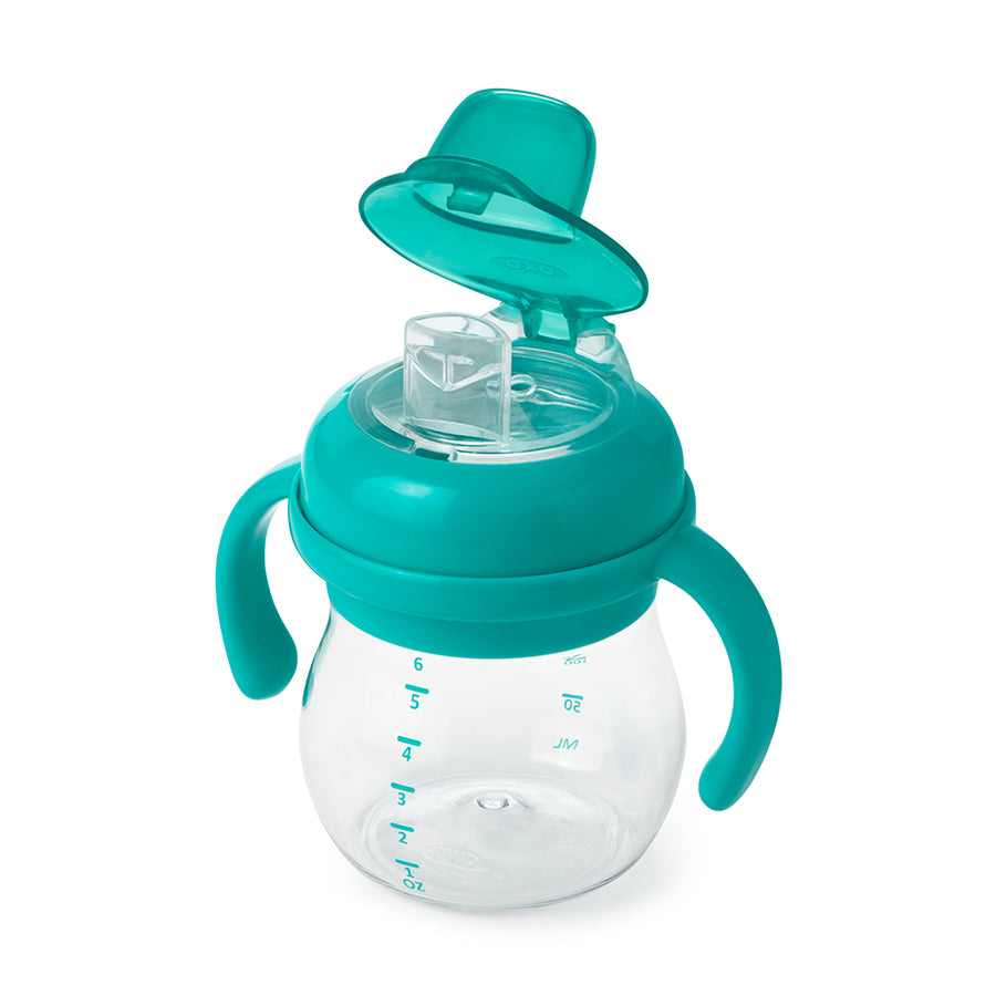 Transitions Soft Spout Sippy Cup With Removable Handles - 6oz (Teal)