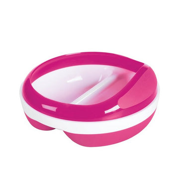 Divided Feeding Dish (Pink)